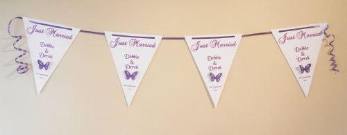 Just Married Wedding Engagment Bunting